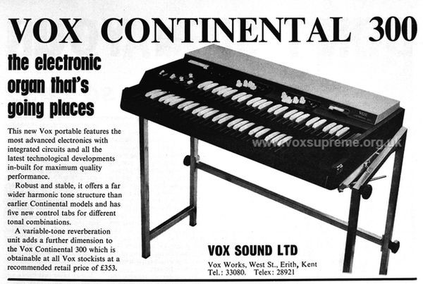 Vox Sound Limited advert in Beat Instrumental, April 1971