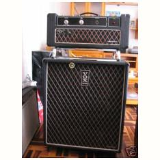 Vox Foundation bass amplifier and cabinet with original covers