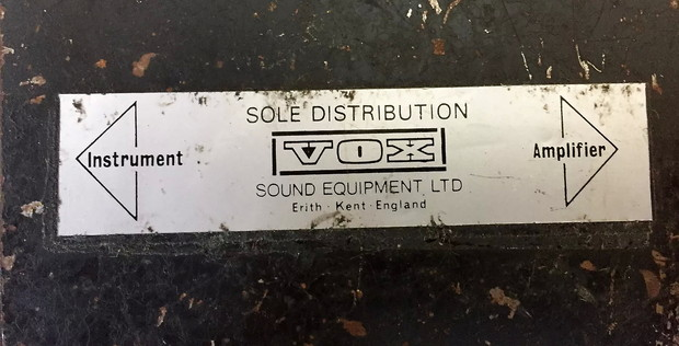Vox Sound Equipment Limited Wow Fuzz pedal made in the Erith Factory