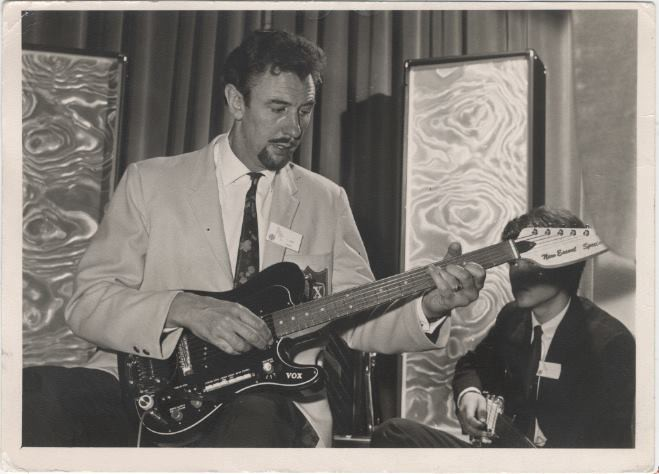 Dick Denney at the British Musical Instrument Trade Fair 21st to 24th August, 1967