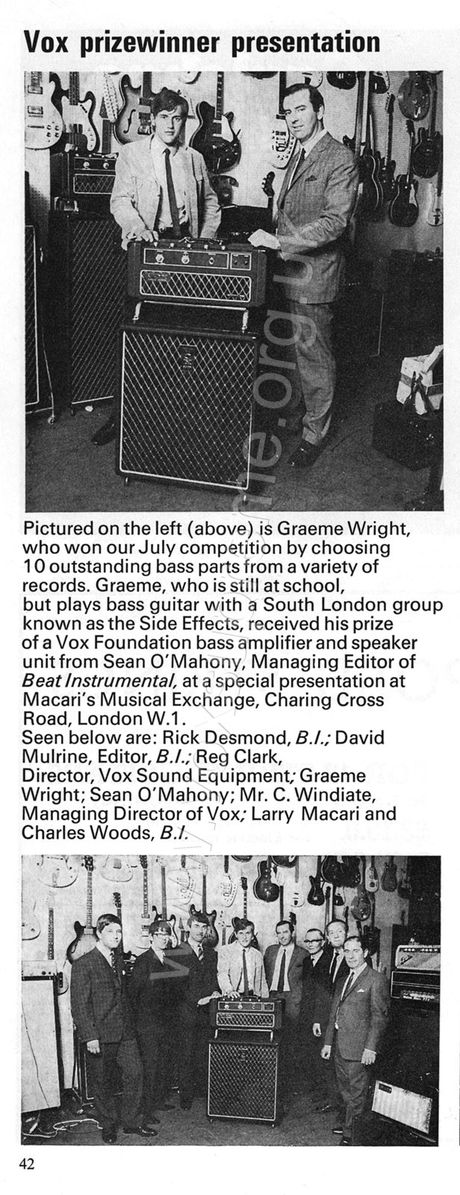 Beat Instrumental magazine, October 1969, Vox advert