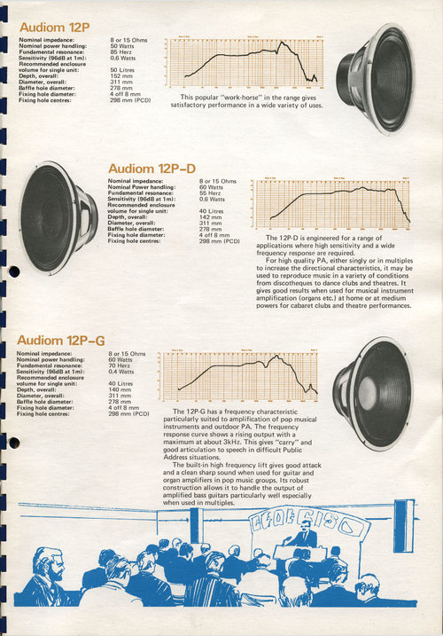 Goodmans speaker brochure, early 1970s