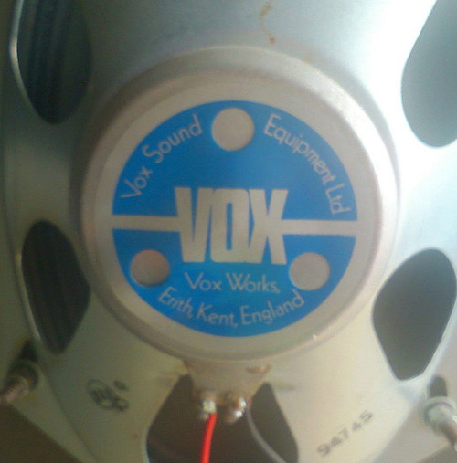 Vox Sound Equipment Limited labels for PA column speakers