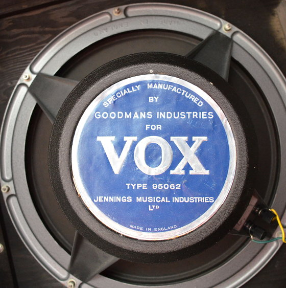 Goodmans speaker label for Vox