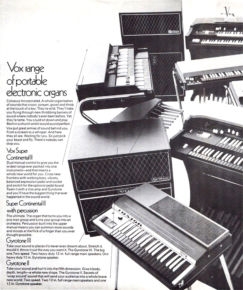 Vox Sound Equipment Limited brochure, February 1969, amps