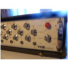 Vox PA100SS, Vox Sound Equipment Ltd, front view detail