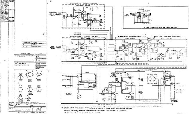 Vox Sound Equipment Ltd schematic for the Vox SS PA50