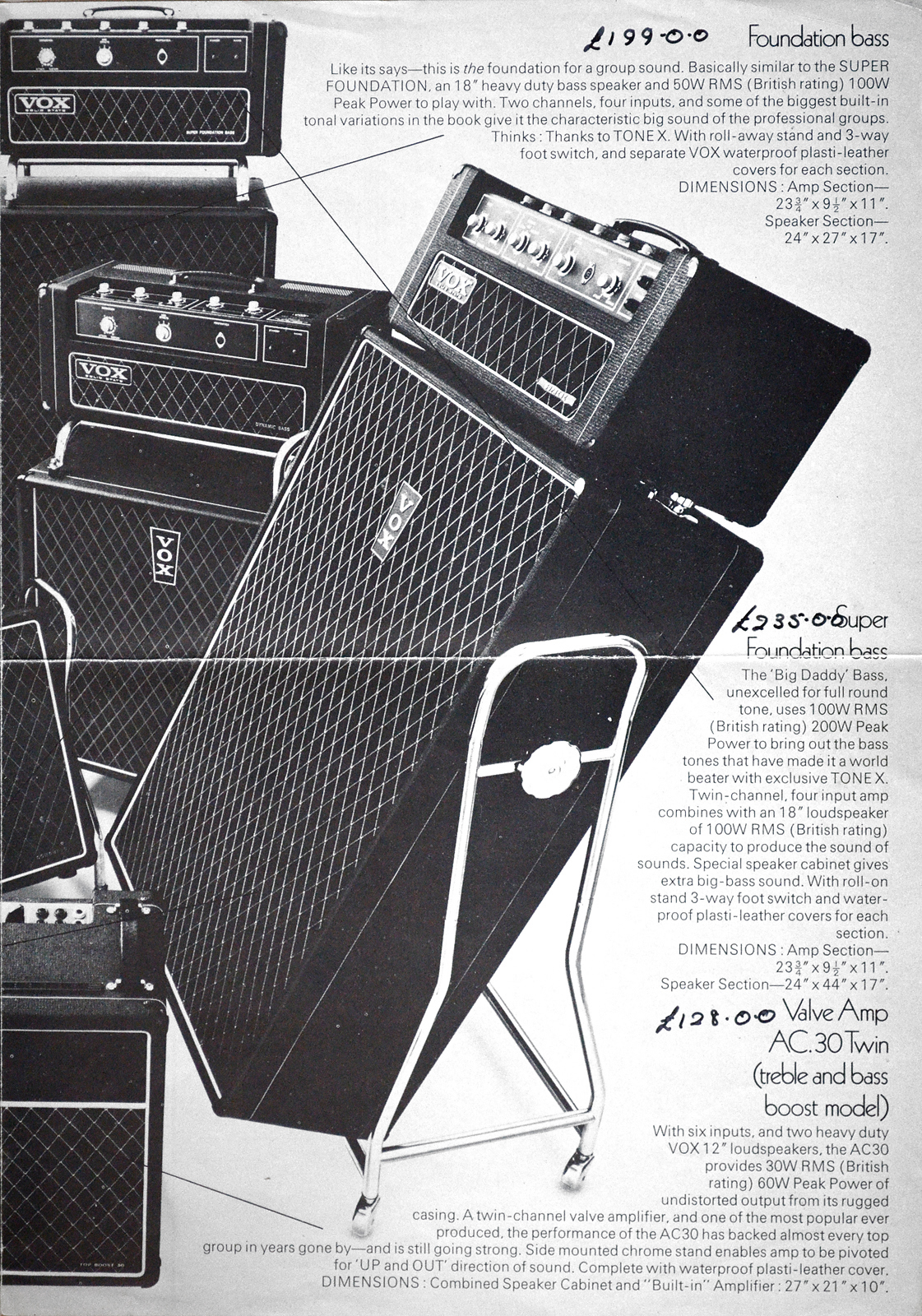 1969 Vox catalogue- Supreme tilt back trolley