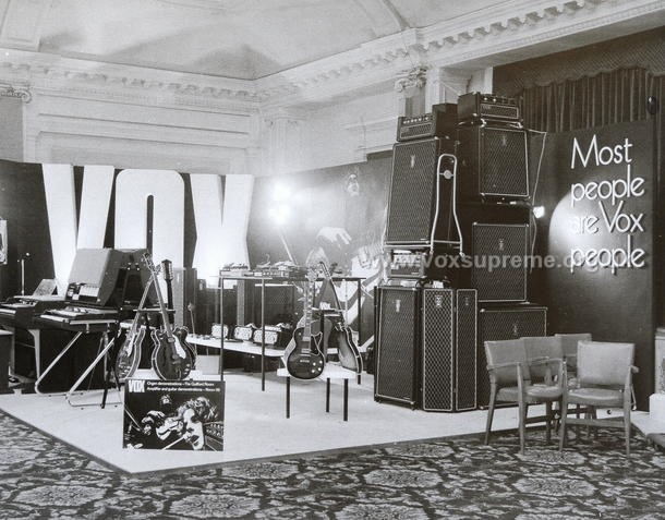 Vox Sound Equipment Limited at the British Musical Instrument Trade Fair, August 1969