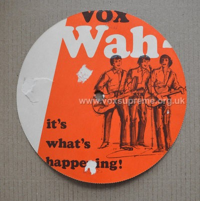 Vox promotional disc for the new wah pedal, version 1, reverse
